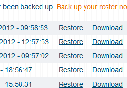 Restoring Your Own Backups